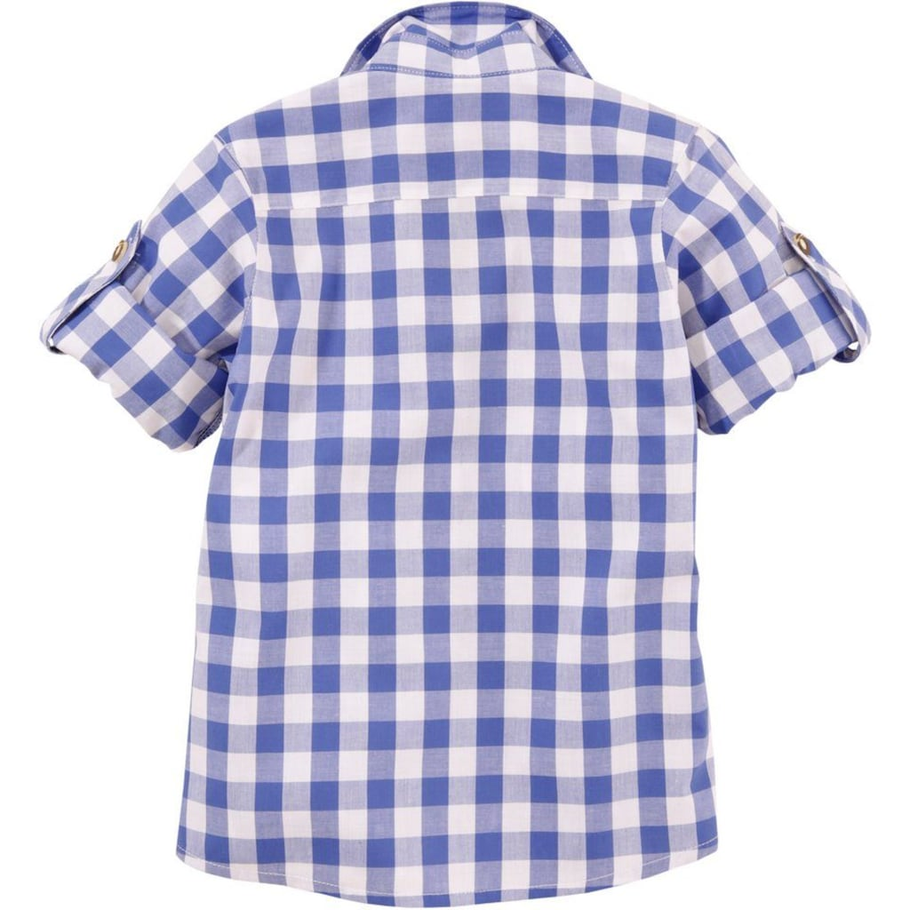 OS-Trachten Trachtenhemd, Kinder mit Krempelärmel
