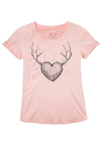 Marjo Trachtenshirt Damen mit  Motiv und Glitzerdruck kaufen