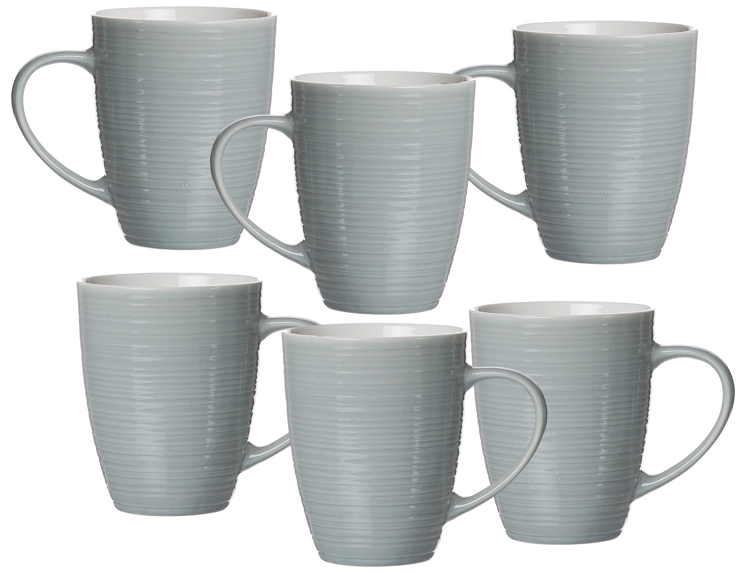 Ritzenhoff & Breker Becher Suomi, (Set, 6 tlg.), 6-teilig blau Tassen Geschirr, Porzellan Tischaccessoires Haushaltswaren