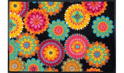 wash+dry by Kleen-Tex Fußmatte »Peppina«, rechteckig, 7 mm Höhe, Schmutzfangmatte kaufen
