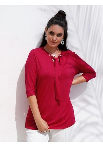 MIAMODA V-Shirt, mit Bindeband am Ausschnitt kaufen