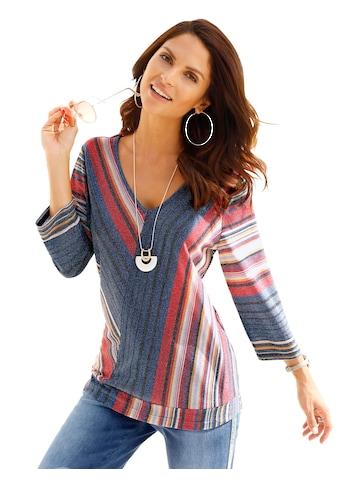 Classic Inspirationen Shirt mit modisch asymmetrischen Streifenverlauf kaufen