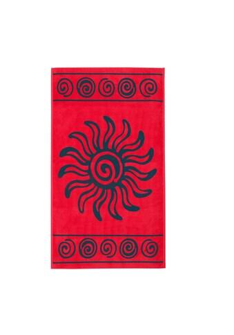 Delindo Lifestyle Strandtuch »Tropical Sonne«, (1 St.), Jacquard-gewebtes Motiv Sonne kaufen