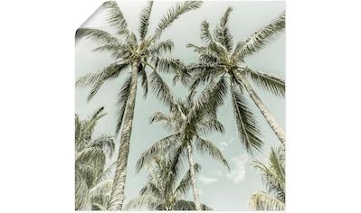 Artland Wandbild »Palmenidylle Vintage«, Baumbilder, (1 St.), in vielen Größen &... kaufen