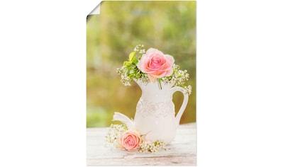 Artland Wandbild »Vintage Rosen in Vase« kaufen