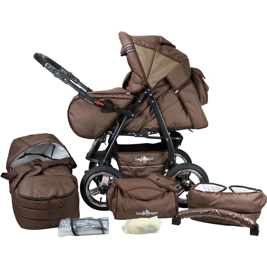 bergsteiger Kombi-Kinderwagen »Rio, chocolate, 3in1«, mit Lufträdern; Made in Europe; Kinderwagen