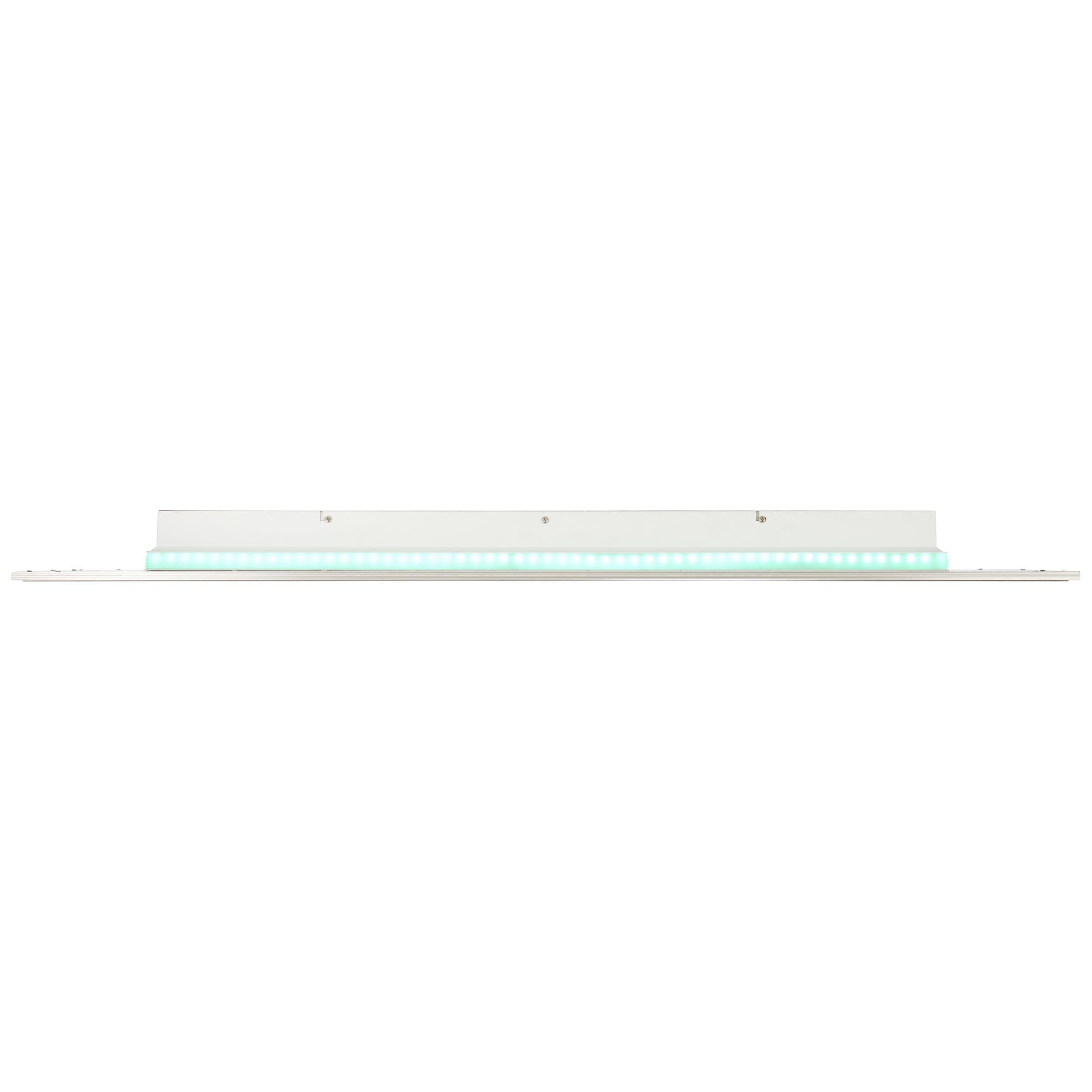 AEG Niven LED Deckenaufbau-Paneel 120x30cm Lautsprecher nickel