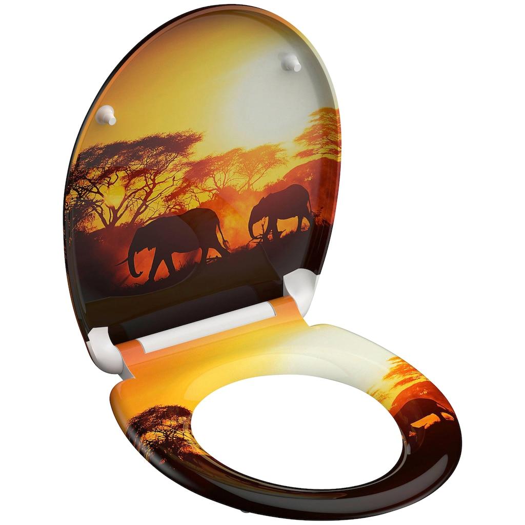 Schütte WC-Sitz »Africa«, aus Duroplast mit Absenkautomatik