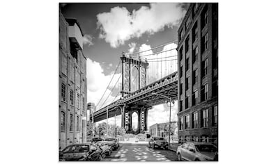 Artland Glasbild »New York City Manhattan Bridge«, Amerika, (1 St.) kaufen