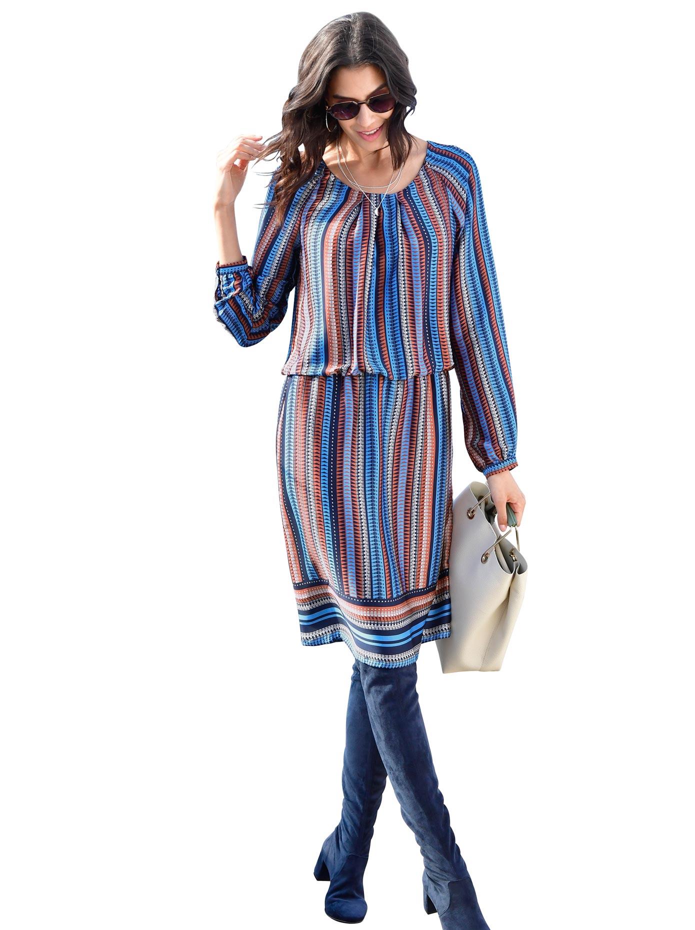 Classic Inspirationen Kleid im Streifendessin