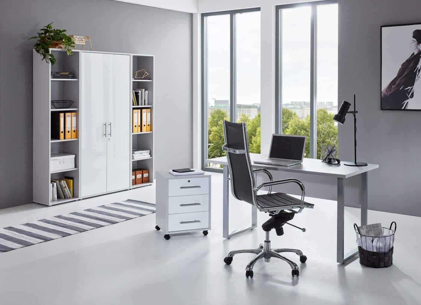 BMG Büro-Set Tabor Mini Kombi 3 grau Büromöbel