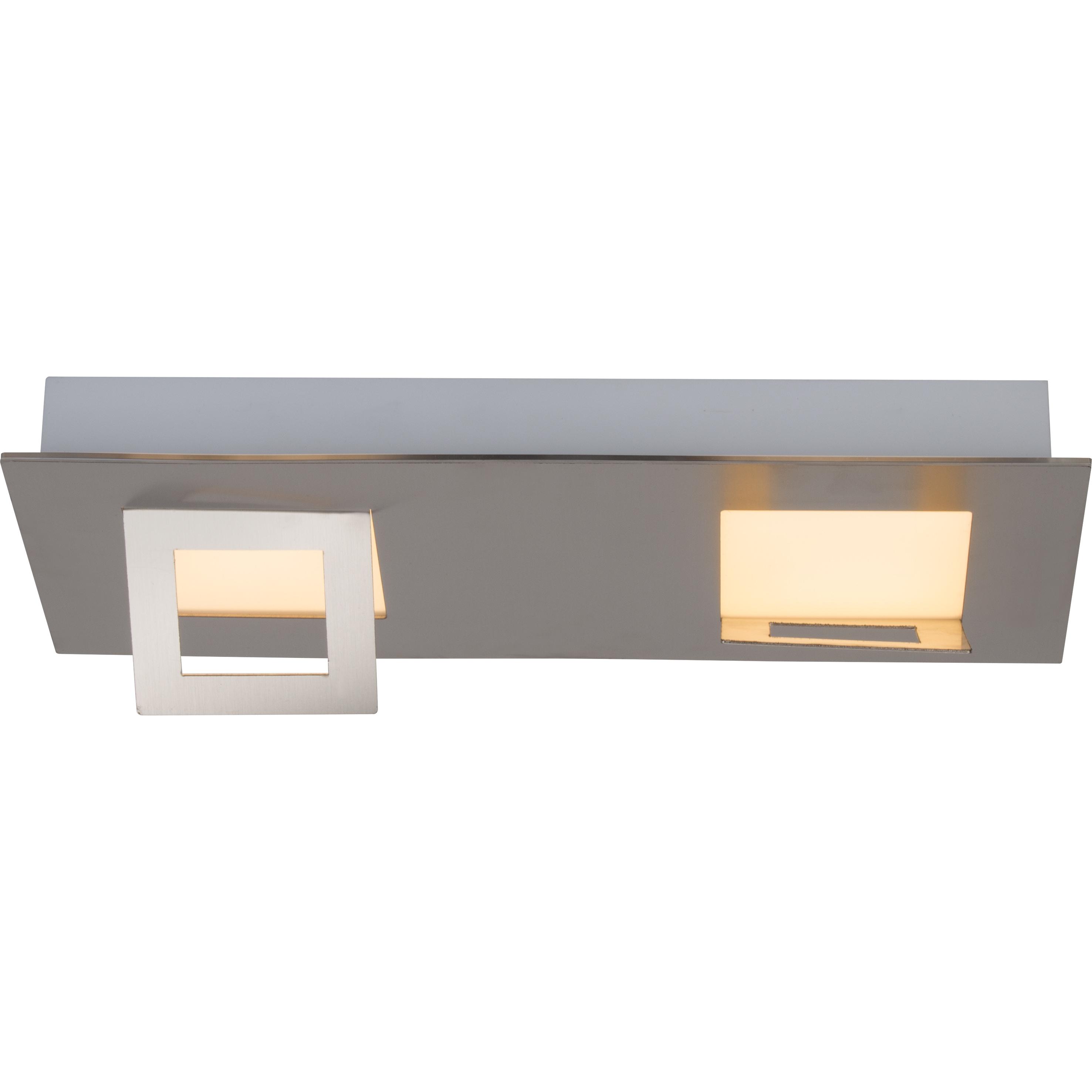 Brilliant Leuchten Doors LED Wand- und Deckenleuchte 2flg eisen