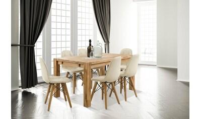 Home affaire Essgruppe »Tim«, (Set, 7 tlg.), bestehend aus 6 Stühlen und einem Esstisch, Esstischbreite 160 cm kaufen