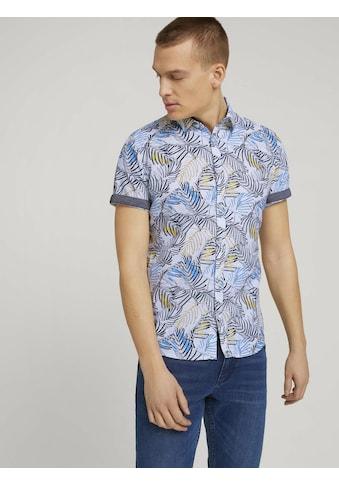 TOM TAILOR Kurzarmhemd »gemustertes Hemd aus Bio-Baumwolle« kaufen