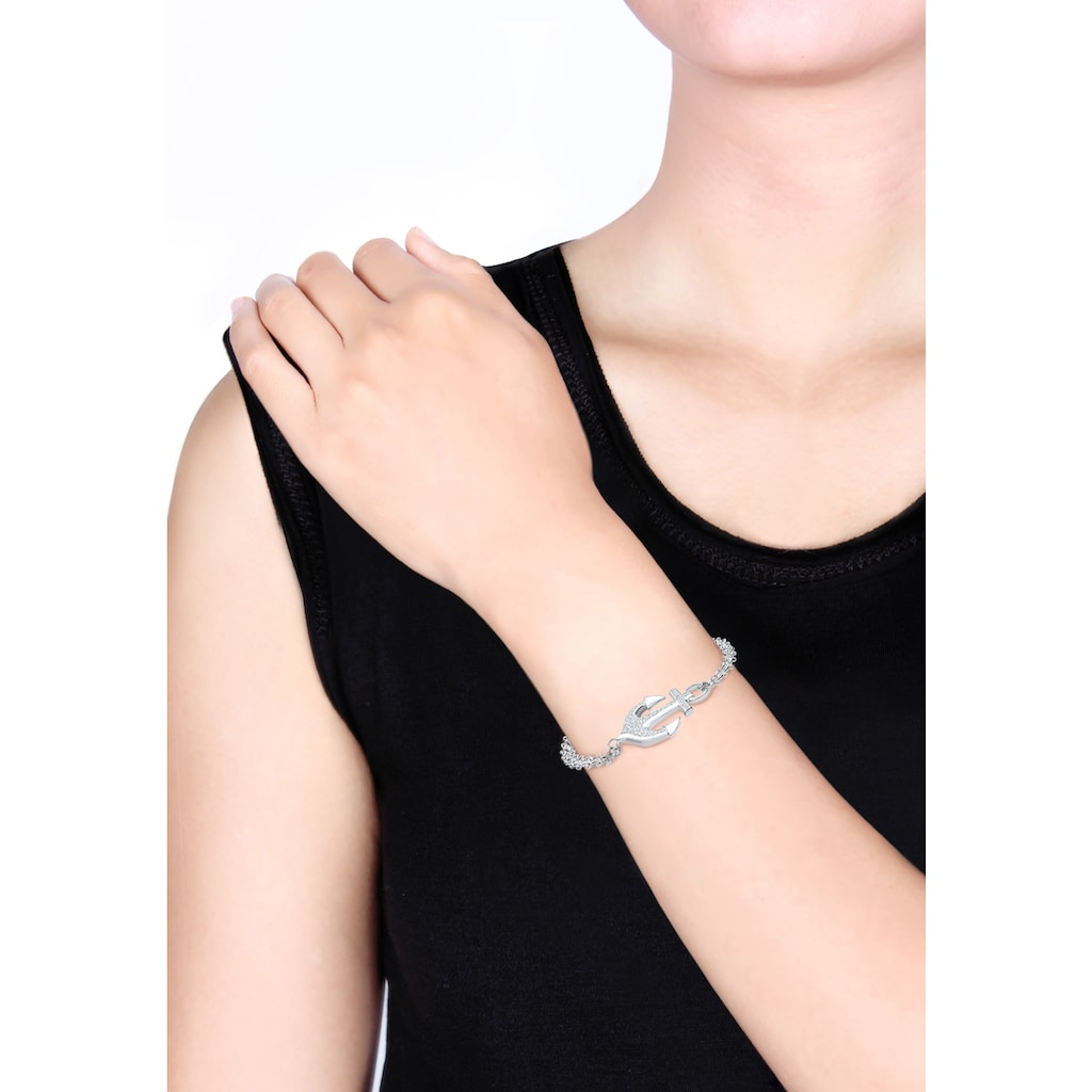 Elli Armband »Anker Zirkonia 925 Sterling Silber«