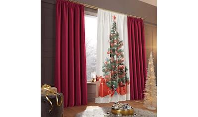 my home Vorhang »Tannenbaum«, HxB: 230x140, Weihnachtsdeko kaufen