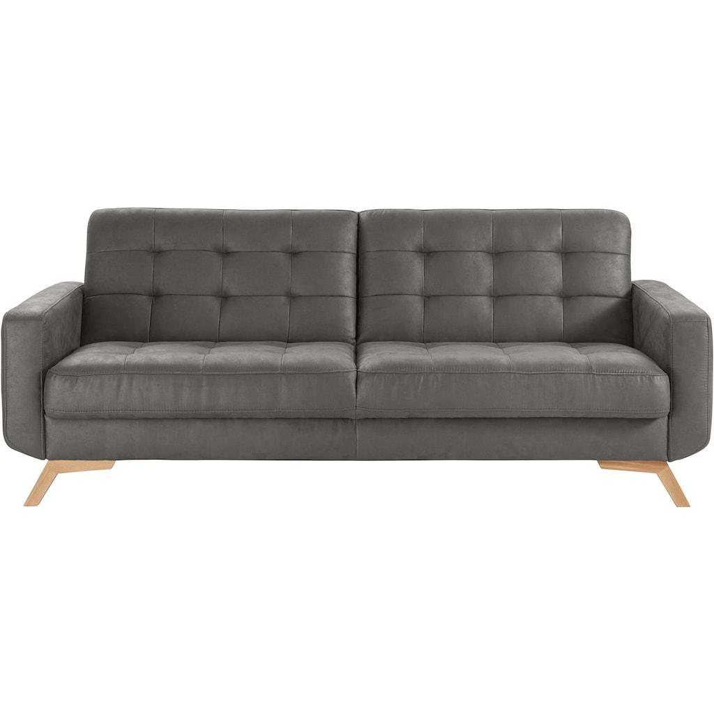 exxpo - sofa fashion 3-Sitzer, mit Bettfunktion und Bettkasten
