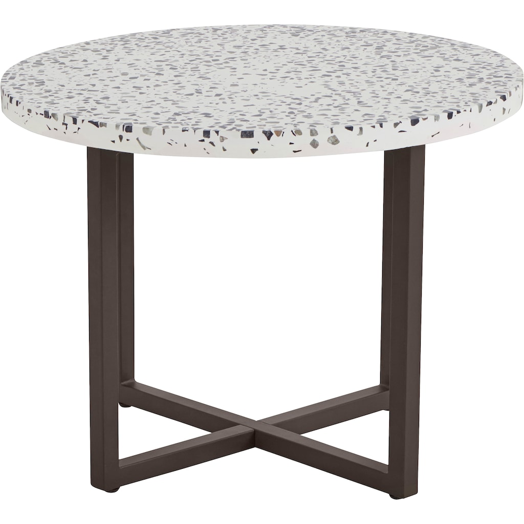 INOSIGN Beistelltisch »Steph«, mit einem schönen Metallgestell und einer besonderen Tischplatte-Optik