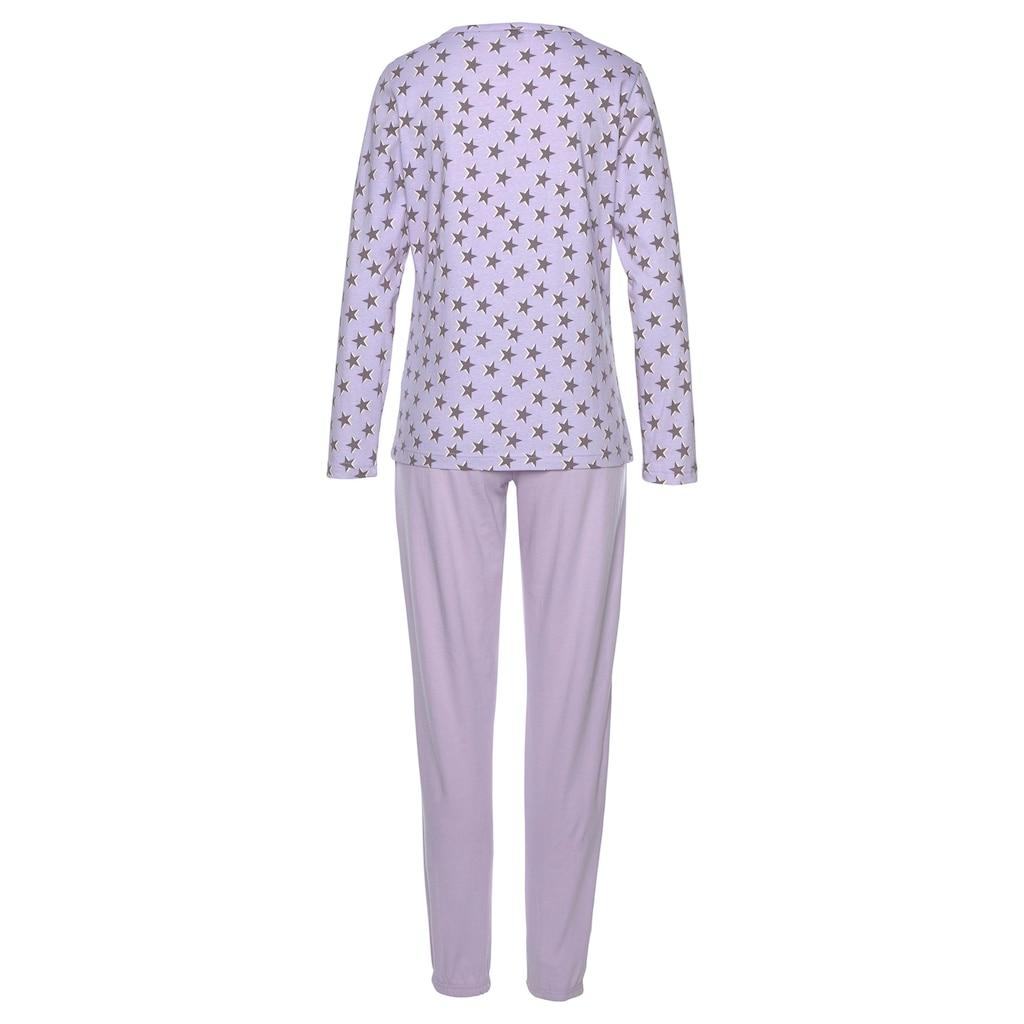 Vivance Dreams Pyjama, mit Sternenmuster