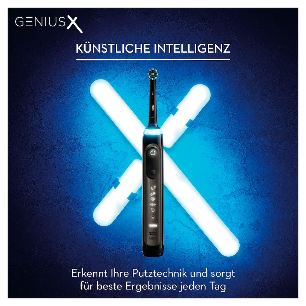Oral B Elektrische Zahnbürste »Genius X 20000 Luxe Edition«, 4 St. Aufsteckbürsten, Anthracite Grey