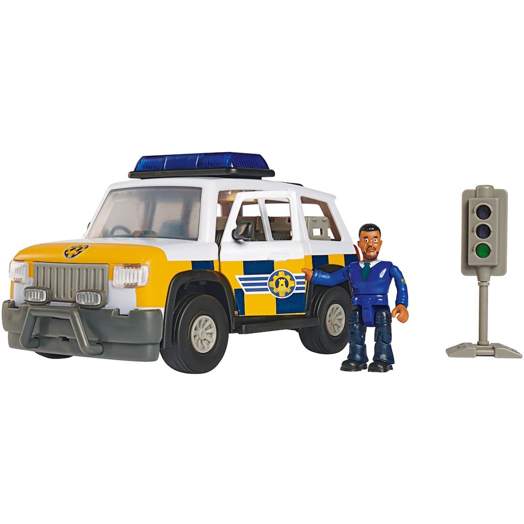 SIMBA Spielzeug-Auto »Feuerwehrmann Sam, Polizeiauto 4x4 mit Figur«, mit Licht und Originalsound
