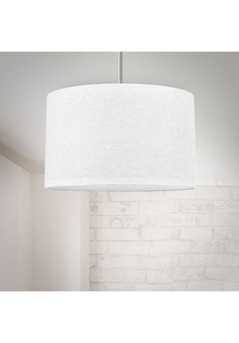B.K.Licht Pendelleuchte, E27, Hängeleuchte, LED Pendelampe Stoff Textil Lampenschirm Deckenlampe Esstisch Wohnzimmer E27 weiß kaufen