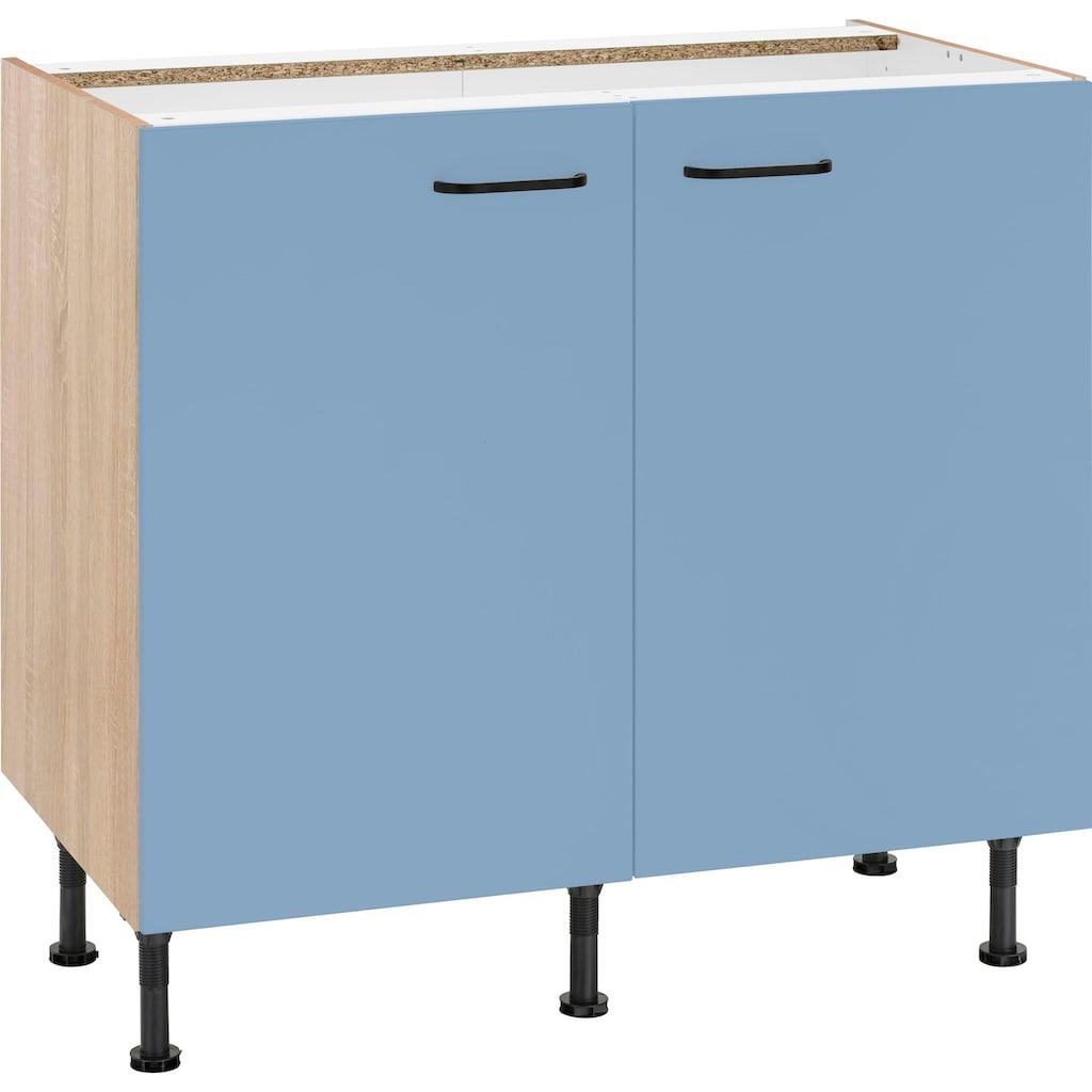OPTIFIT Unterschrank »Elga«, mit Soft-Close-Funktion, höhenverstellbaren Füßen und Metallgriffen, Breite 90 cm