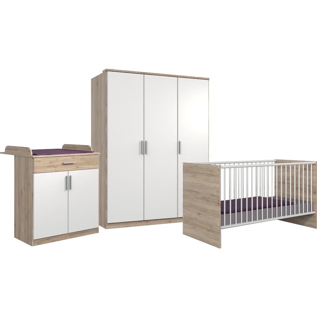 Wimex Babyzimmer-Komplettset »Kiel«, (3 St.), Bett + Wickelkommode + 3-trg. Schrank