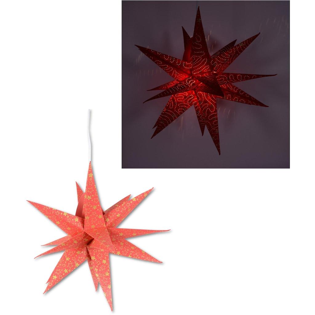 Dekolicht »Fensterstern«, in 3D Optik, mit Motiv