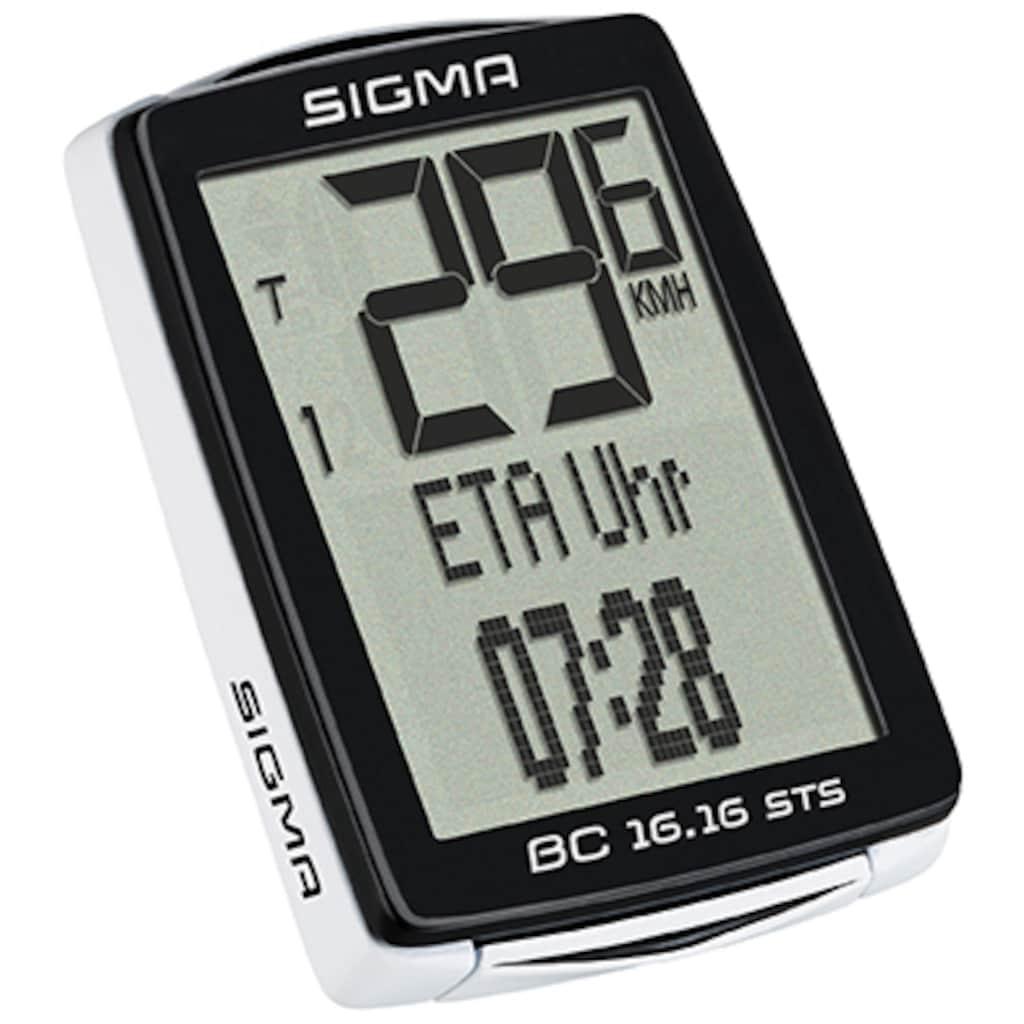 SIGMA SPORT Fahrradcomputer »BC 16.16 STS«, kabellos