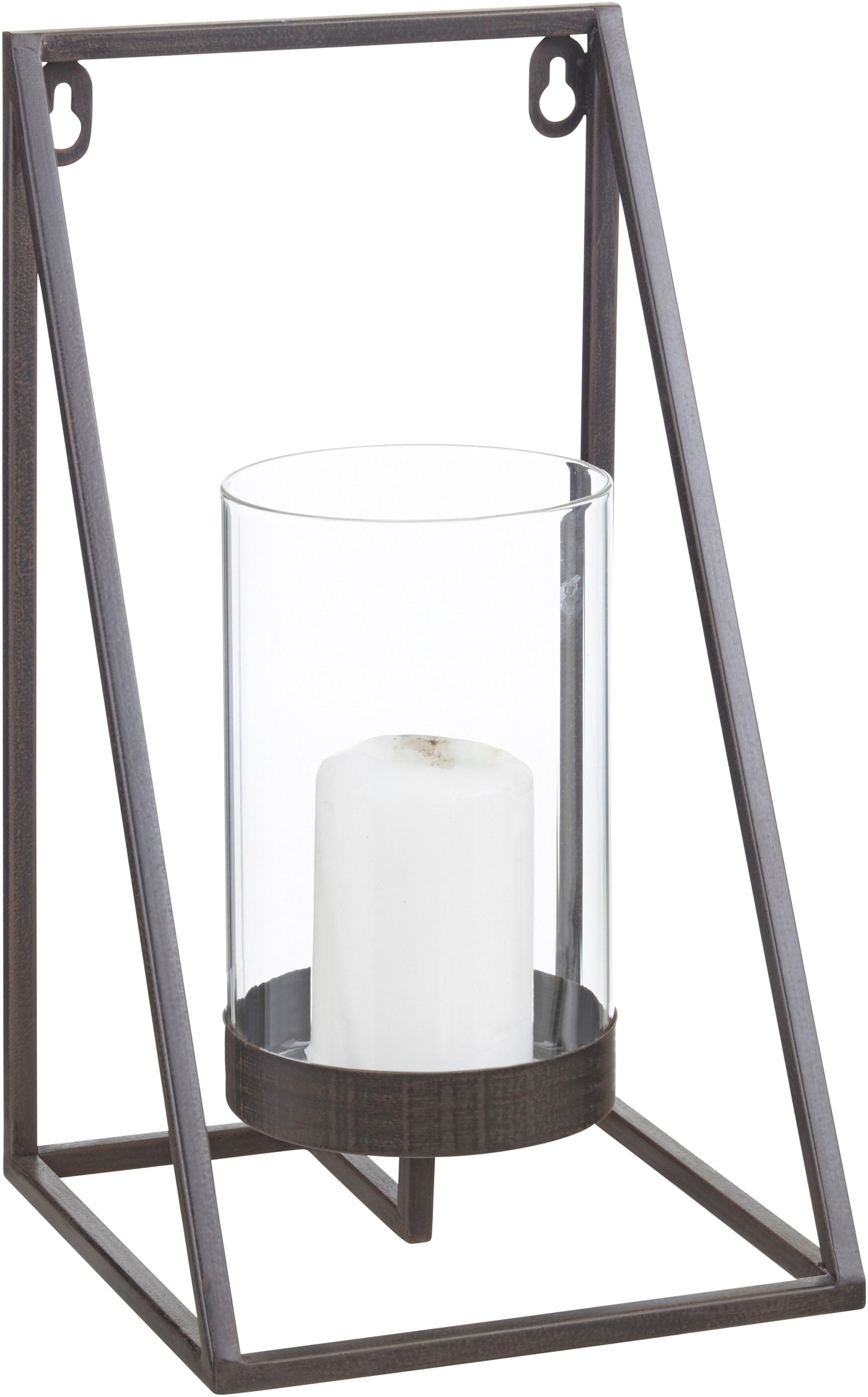 andas Wandkerzenhalter Industrial Candleholder, Kerzen-Wandleuchter, Kerzenhalter, Kerzenleuchter hängend, Wanddeko, aus Metall schwarz Wanddekoration Deko Wohnaccessoires