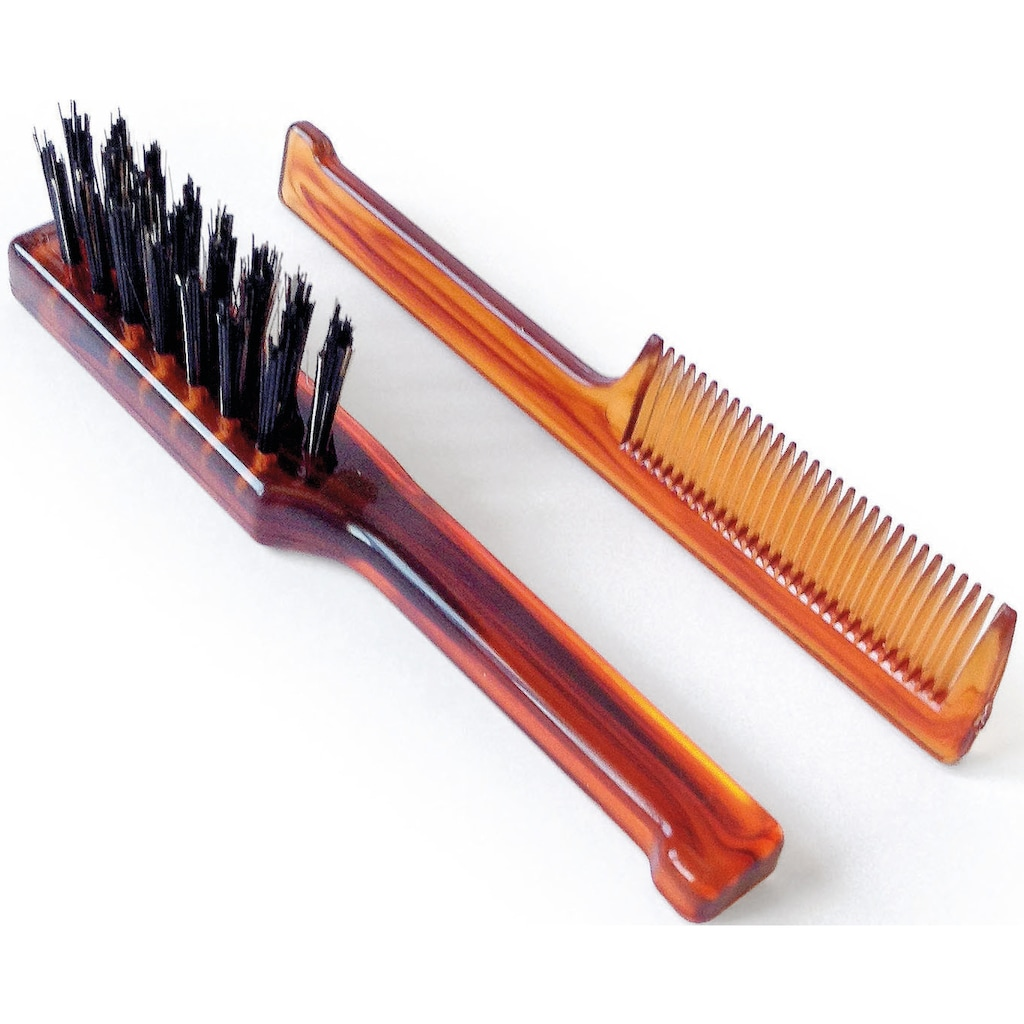 Mondial Antica Barberia Haarbürsten-Set »Bartbürste und -kamm«