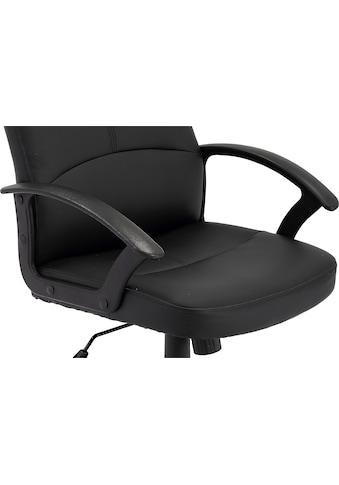 byLIVING Schreibtischstuhl »Ilse«, Kunstlederbezug in schwarz kaufen