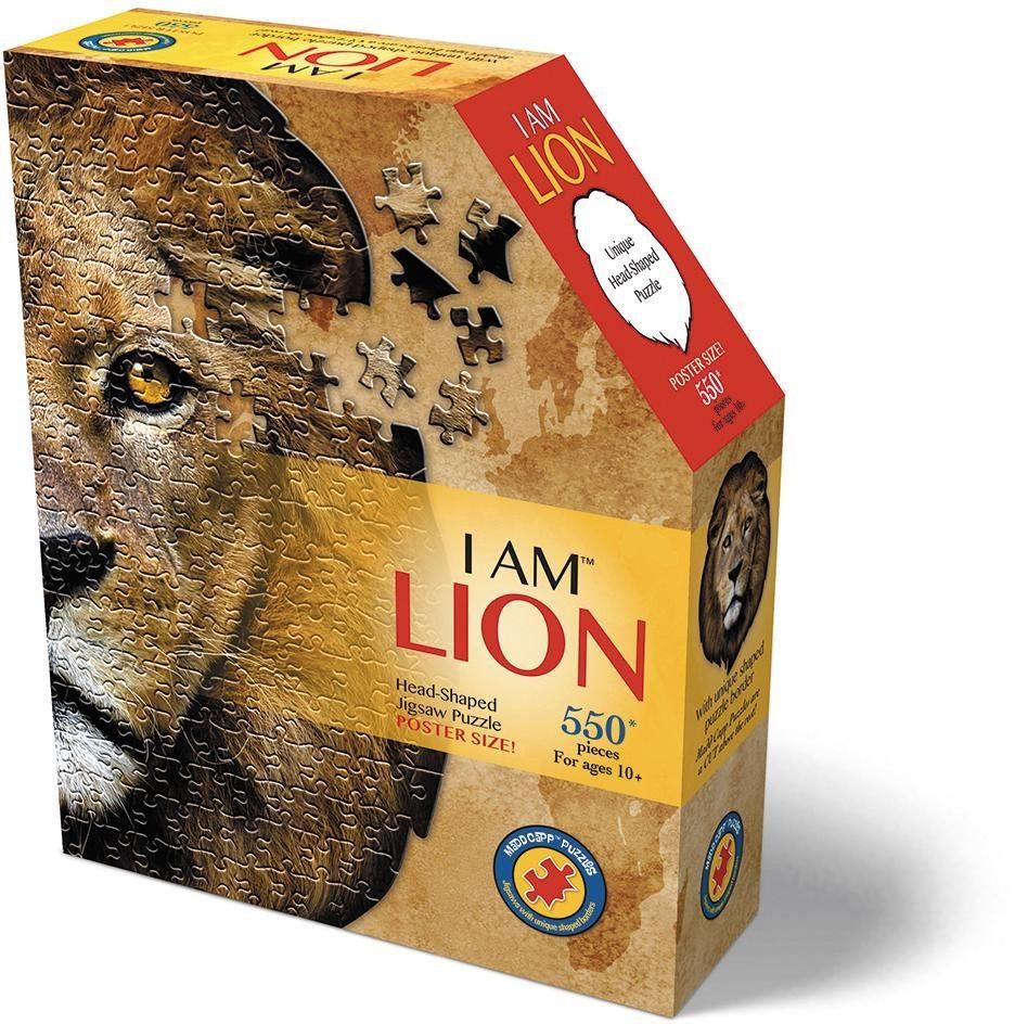 Konturenpuzzle Löwe beige Kinder Ab 9-11 Jahren Altersempfehlung Puzzles