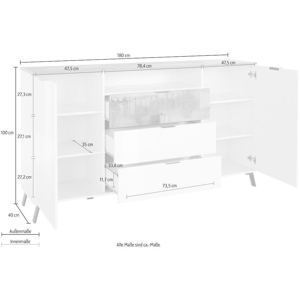 KITALY Highboard »CASANOVA«, Breite ca. 180 cm