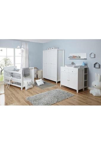 Ticaa Babyzimmer-Komplettset »Rosa«, (Set, 5 tlg.), Bett + Wickelkommode + Schrank + Wandregal + Anstellregal kaufen