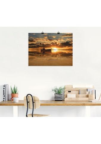 Artland Wandbild »Das Fischerboot im Sonnenuntergang«, Boote & Schiffe, (1 St.), in... kaufen