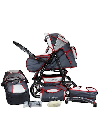 "bergsteiger Kombi - Kinderwagen ""Rio, grey & red stripes, 3in1"", (10 - tlg.) kaufen"