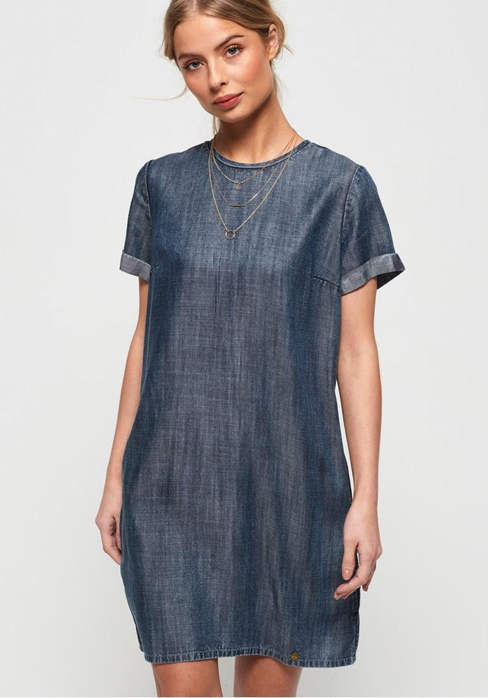 Superdry Jeanskleid SHAY TEE DRESS