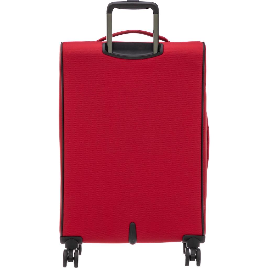 Stratic Weichgepäck-Trolley »Stratic Light L, red«, 4 Rollen