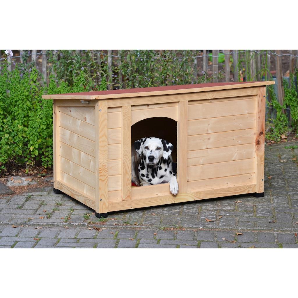 dobar Hundehütte »Lord«, BxTxH: 120x75x70 cm, mit wasserdichtem Bitumendach