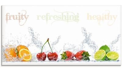 Artland Glasbild »Fruchtig erfrischend gesund Fruchtmix«, Lebensmittel, (1 St.) kaufen