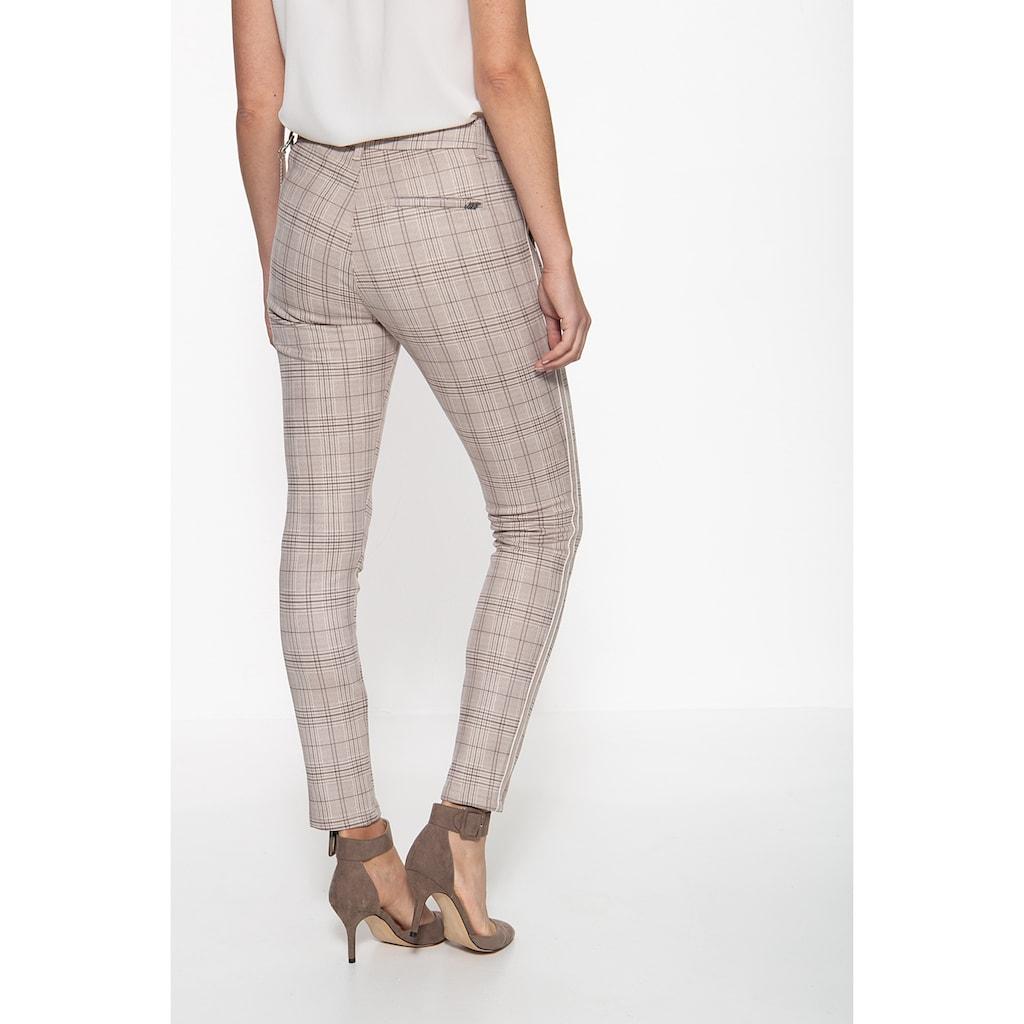 ATT Jeans Stretch-Hose »Ruby«, mit Karomuster und seitlichem Streifen