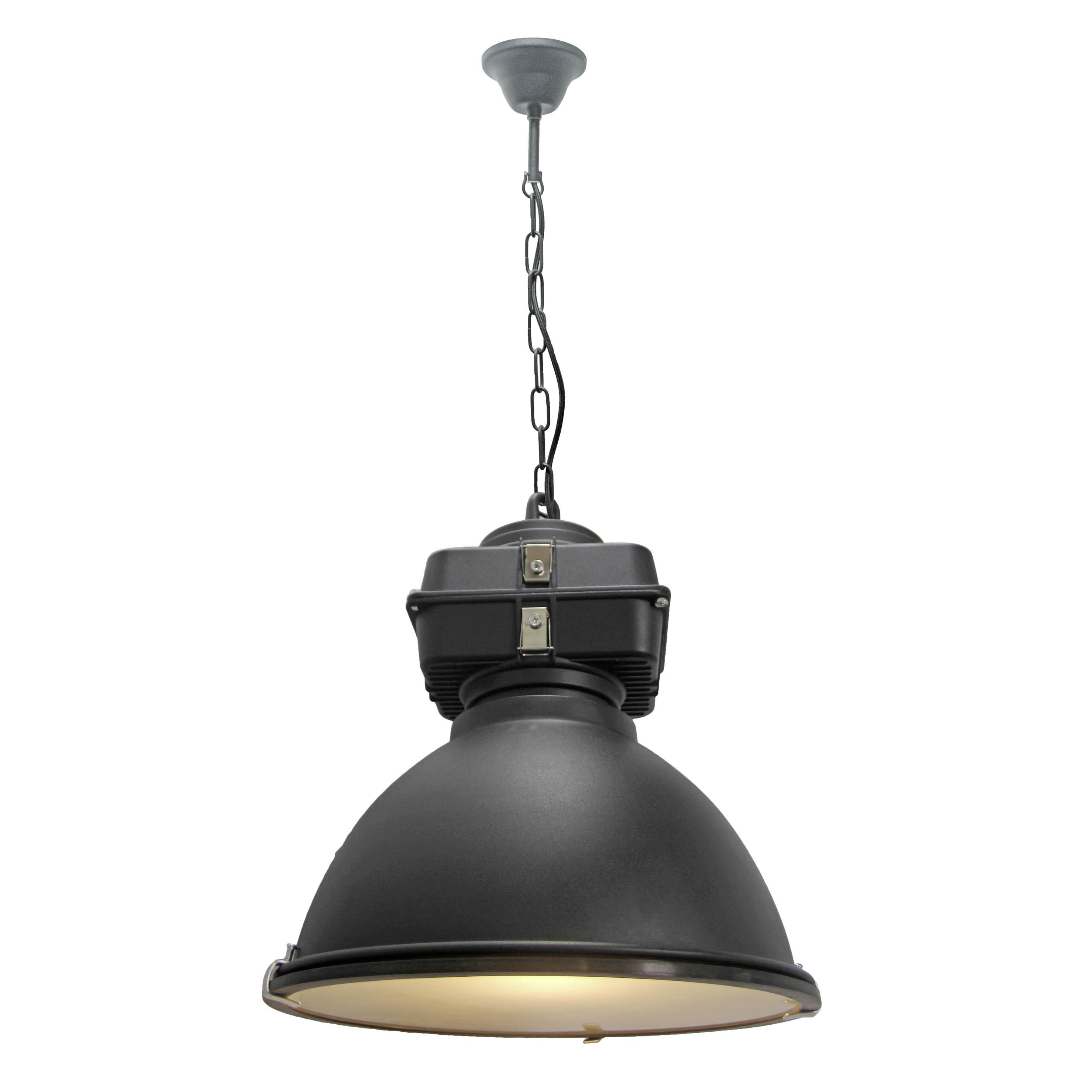 Brilliant Leuchten Anouk Pendelleuchte 40cm Glas schwarz