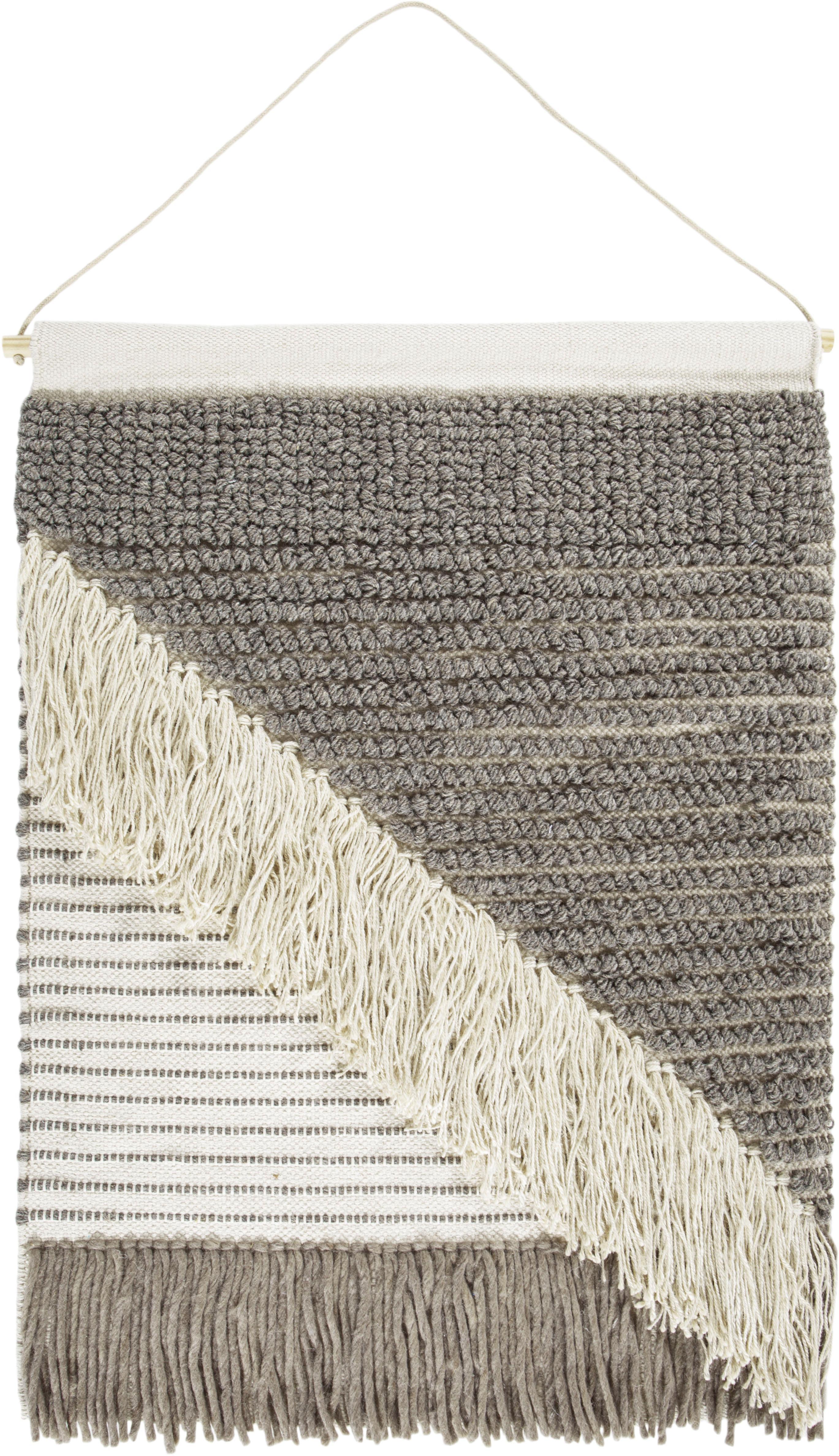 Wandteppich Skagen 3 LUXOR living rechteckig Höhe 10 mm handgewebt | Heimtextilien > Teppiche > Wandteppich | Grau | Wolle | Luxor Living