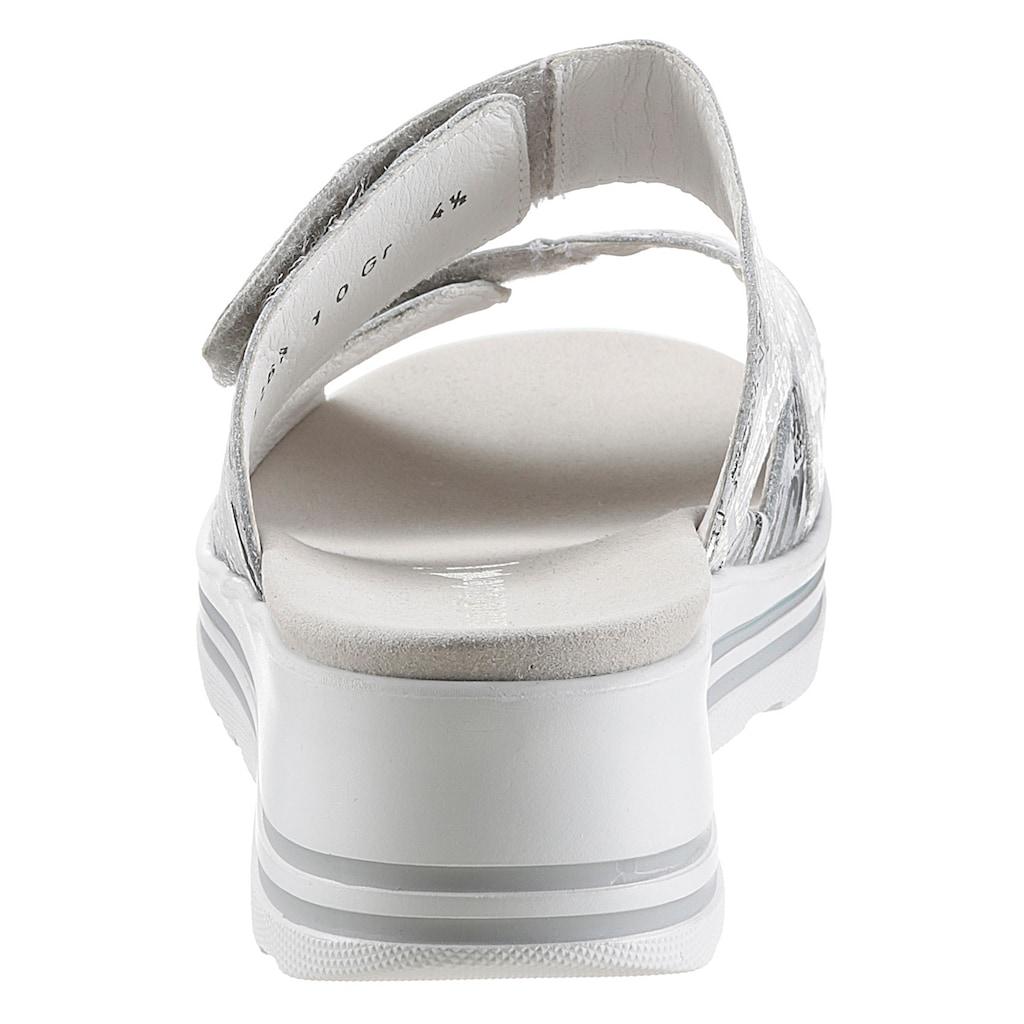 Waldläufer Pantolette »MICHELLE«, mit zwei Klettriemchen, Komfortweite: sehr weit