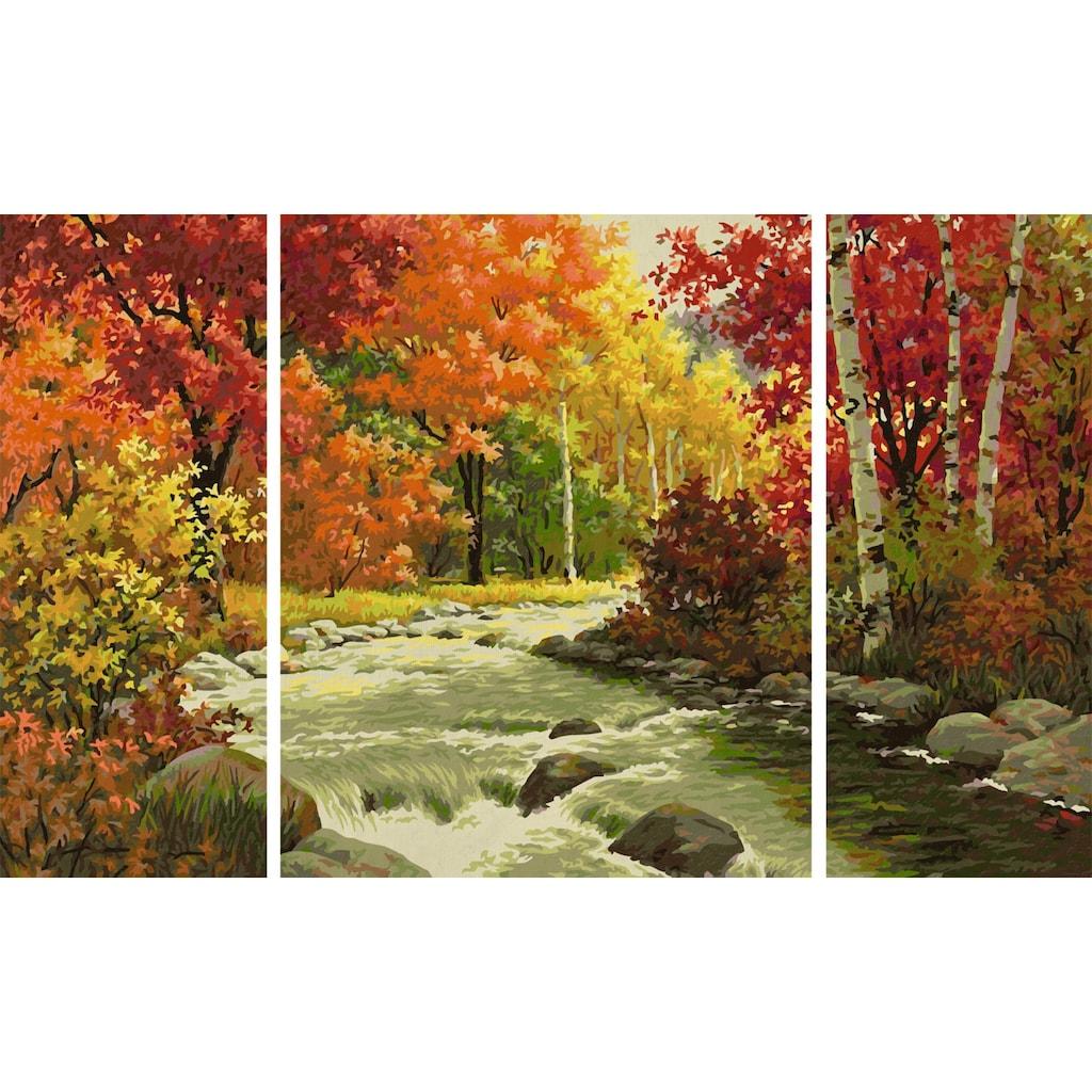 Schipper Malen nach Zahlen »Meisterklasse Triptychon, Flusslandschaft«, Made in Germany