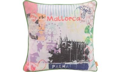 H.O.C.K. Dekokissen »Lieblingsstädte MALLORCA«, mit Mallorca-Motiv kaufen
