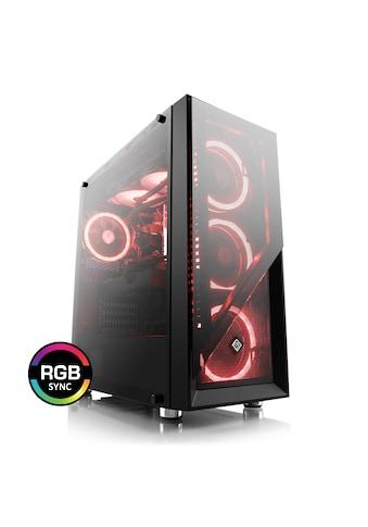 BoostBoxx Gehäuse Sichtfenster, schwarz, RGB Beleuchtung mit 4 RGB Lüftern »BoostBoxx Argo« kaufen