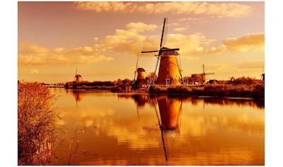 Art & Pleasure Acrylglasbild »Windmill landscape«, Landschaft kaufen